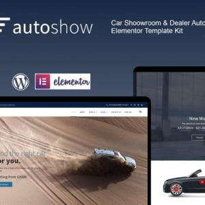 AutoShow - Car Shoowroom & Dealer Elementor Template Kit