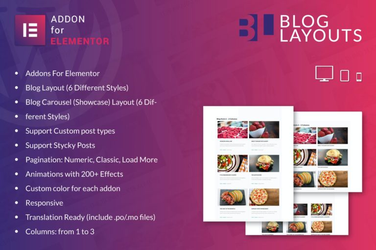 Blog Layouts for Elementor