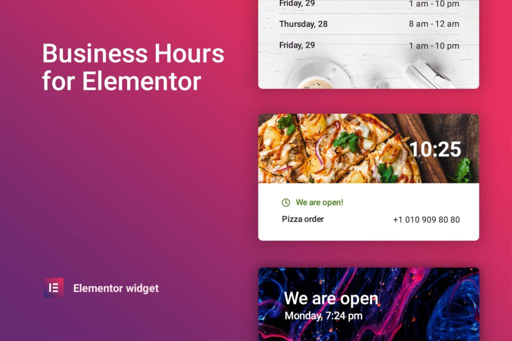 Business hours for Elementor