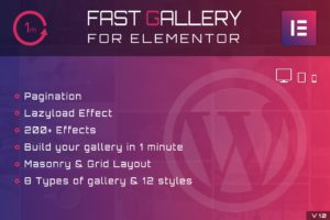 Fast Gallery for Elementor