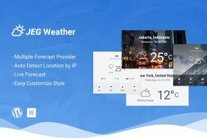 Jeg Weather Forecast Addon for Elementor