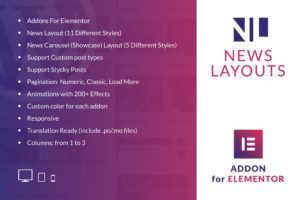 News Layouts for Elementor