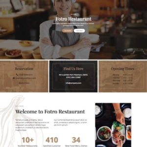 Fotro - Food & Restaurant Elementor Template Kit