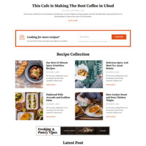 CookBlog – Food & Personal Blog Elementor Template Kit