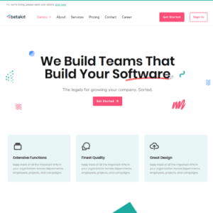Betakit - Digital & Marketing Agency Elementor Template Kit