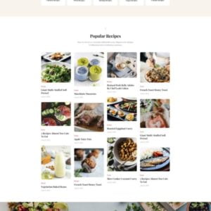 Especio - Food Blog Elementor Template Kit