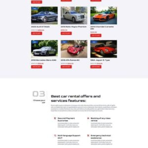 Rotors – Car Rental Elementor Template Kit