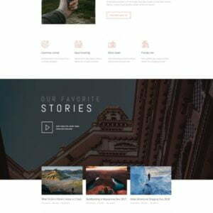 Vagabonds - Travel Blog Template Kit