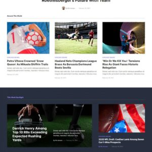 Blanche – Sports Blog & Magazine Elementor Template Kit