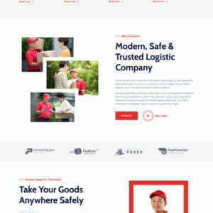 Jetrans – Logistics & Transportation Elementor Template Kit