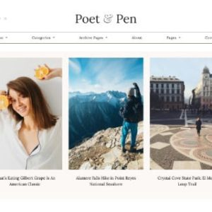 Poet & Pen - Personal Blog Elementor Template Kit