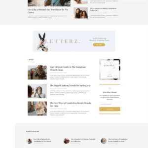 Letterz - Blog Magazine Elementor Template Kit