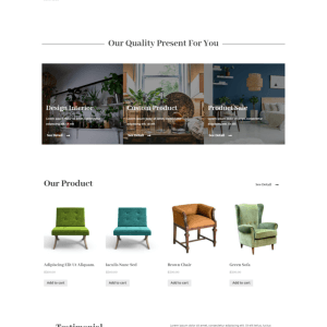 Rams - Furniture eCommerce Elementor Template Kit